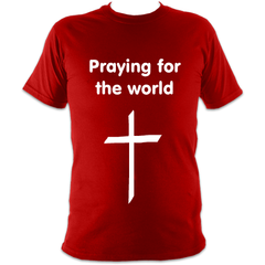 Praying for the world : Super soft heavy tee