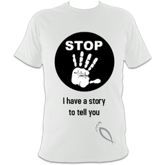 STOP I have a story to tell you : Creative evangelism Unisex T-Shirt