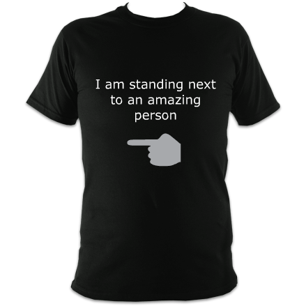 Standing next to an amazing person Unisex T-Shirt : 1 John 4:11