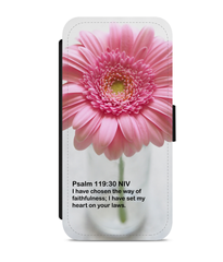 Psalm 119:30 :: Faux Leather Phone Case
