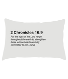 Lumbar Cushion :: 2 Chronicles 16:9 [Bora Bora Beach]