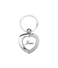 Love Jesus :: Heart Metal Keyring