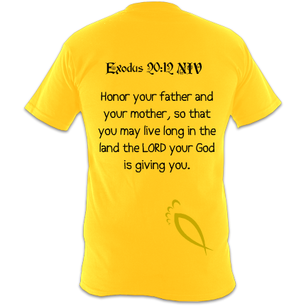 Honor your father and mother : Exodus 20:12 Children's T-Shirt