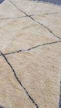 Beni ourain rug shaggy wool Moroccan carpet