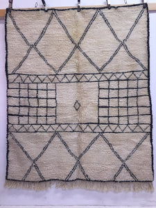 Square moroccan wool rug | square beni ourain rug | square berber rug