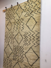 Authentic vintage beni ourain rug | handwoven moroccan rug