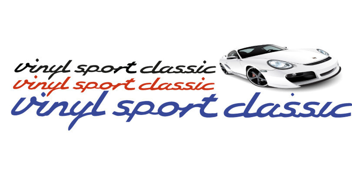 Car Stickers And Vinyl Decals For Classic And Modern Cars Vinylsportclassic