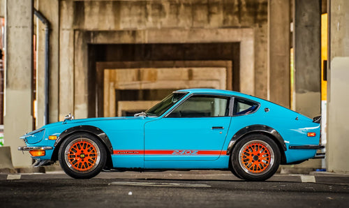 NISSAN DATSUN 240Z SIDE STRIPES DECAL NEGATIVE