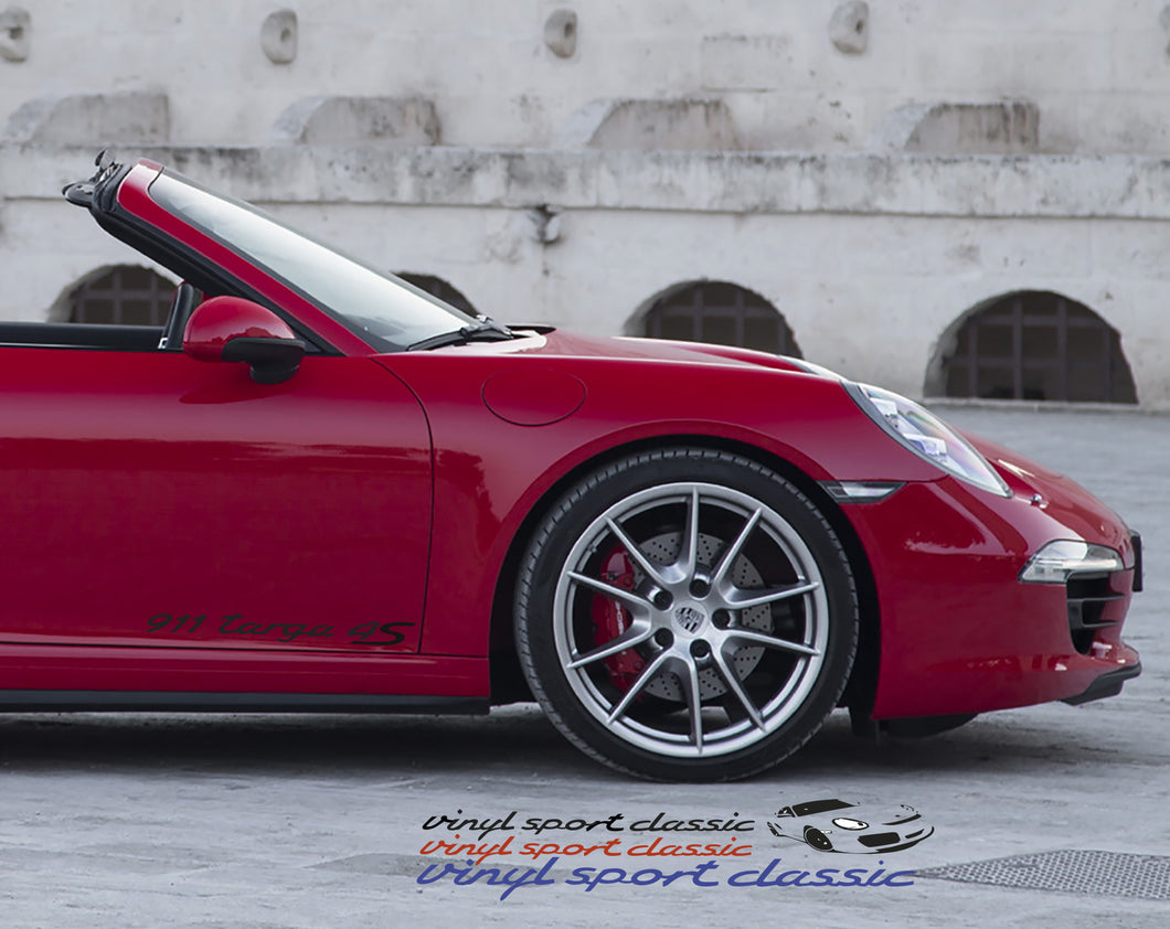 PORSCHE 911 TARGA 4S DECAL SET