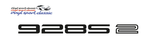 928 S2 REAR STICKER FOR PORSCHE