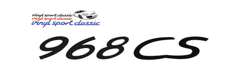 968 CS DECAL FOR PORSCHE