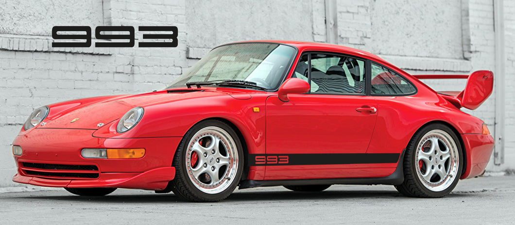 PORSCHE 993 SIDE STRIPES DECAL