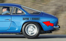 RENAULT ALPINE A110 REAR FENDER DECAL SET
