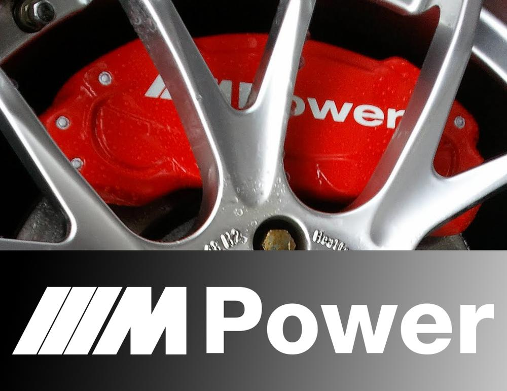 BMW M POWER CALIPER DECAL SET