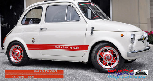 FIAT ABARTH 695 SIDE STRIPES DECAL