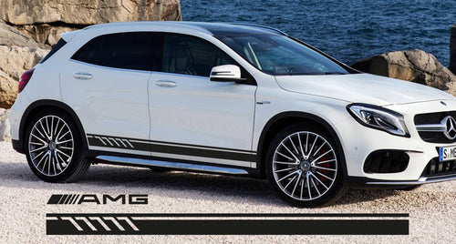 AMG STYLE SIDE STRIPES DECAL FOR MERCEDES GLA