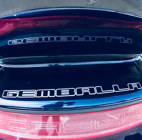 GEMBALLA REAR DECAL FOR PORSCHE