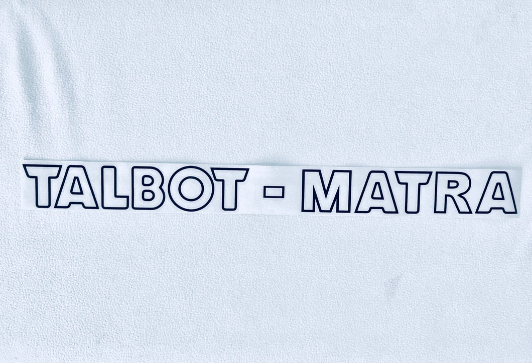 TALBOT MATRA MURENA REAR STICKER