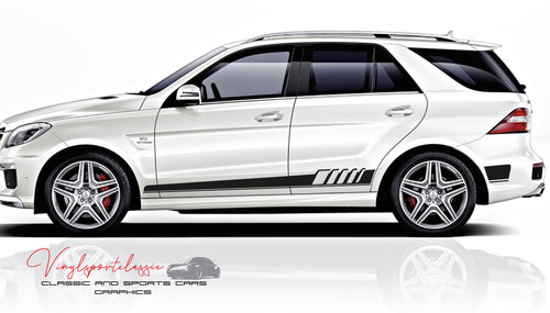MERCEDES ML 63 AMG W166 SIDE STRIPES DECAL