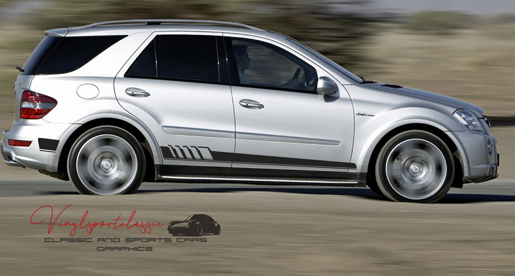 MERCEDES ML AMG SIDE STRIPES FOR ML W164