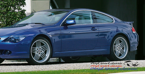 ALPINA E63 E64 SIDE STRIPES DECAL SET FOR BMW