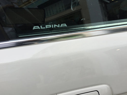 ALPINA WINDOW DECALS