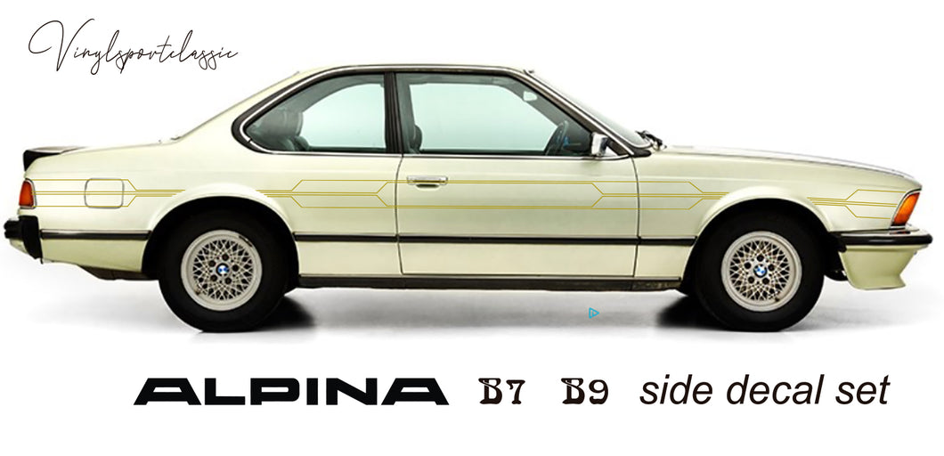 ALPINA B7 turbo ,B7S turbo and B9 SIDE DECAL SET FOR BMW E24
