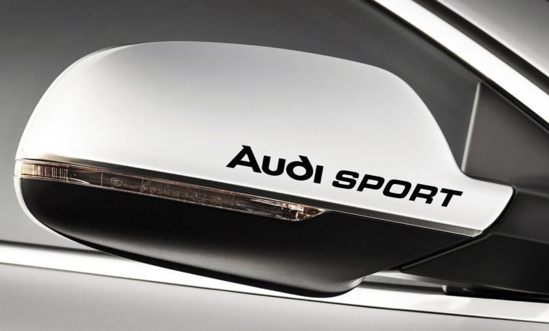 AUDI SPORT MIRROR DECAL SET
