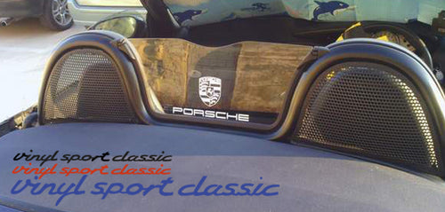 PORSCHE BOXSTER WIND DEFLECTOR DECAL