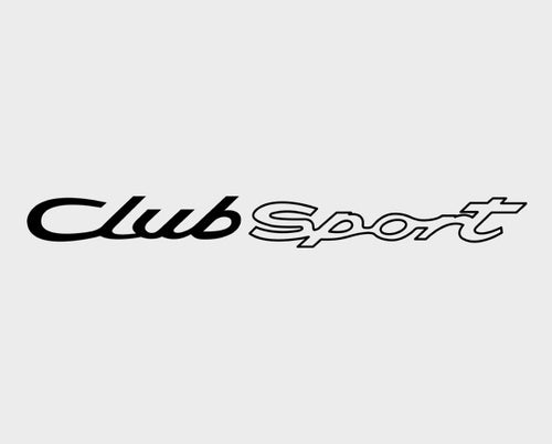 CLUB SPORT STICKER