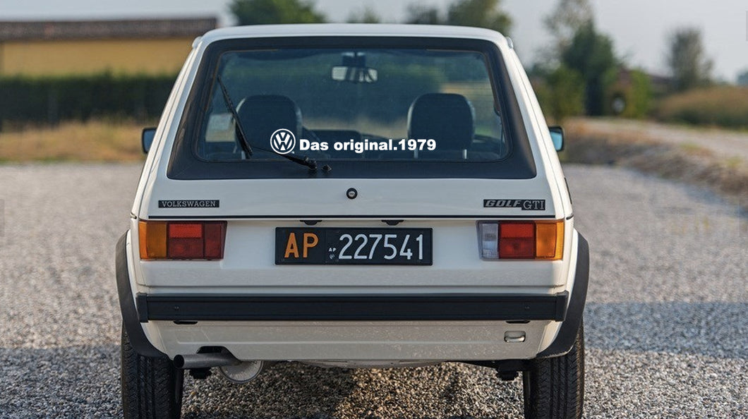 VOLKSWAGEN GOLF MK1 WINDOW STICKER DECAL