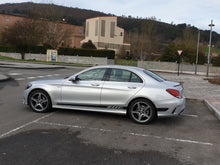 MERCEDES C CLASS AMG STYLE SIDE STRIPES