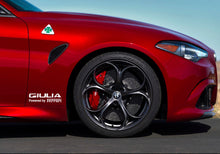 GIULIA POWERED BY FERRARI STICKER FOR ALFA ROMEO GIULIA