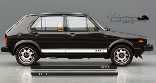 VOLKSWAGEN GOLF GTI MK1 SIDE STRIPES DECAL