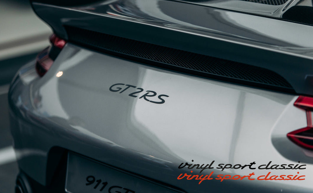 GT2 RS REAR BOOT LID DECAL