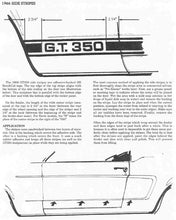 SHELBY GT 350 SIDE STRIPES DECAL 66 MODEL YEAR