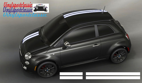 FIAT 500 HOOD ROOF AND REAR DOUBLE STRIPE