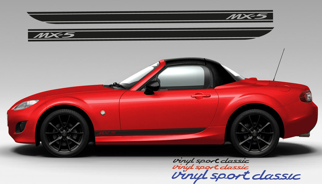 MAZDA MX5 NC SIDE STRIPES DECAL