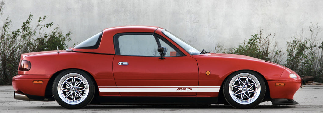 MAZDA MX5 NA NB SIDE STRIPES DECAL