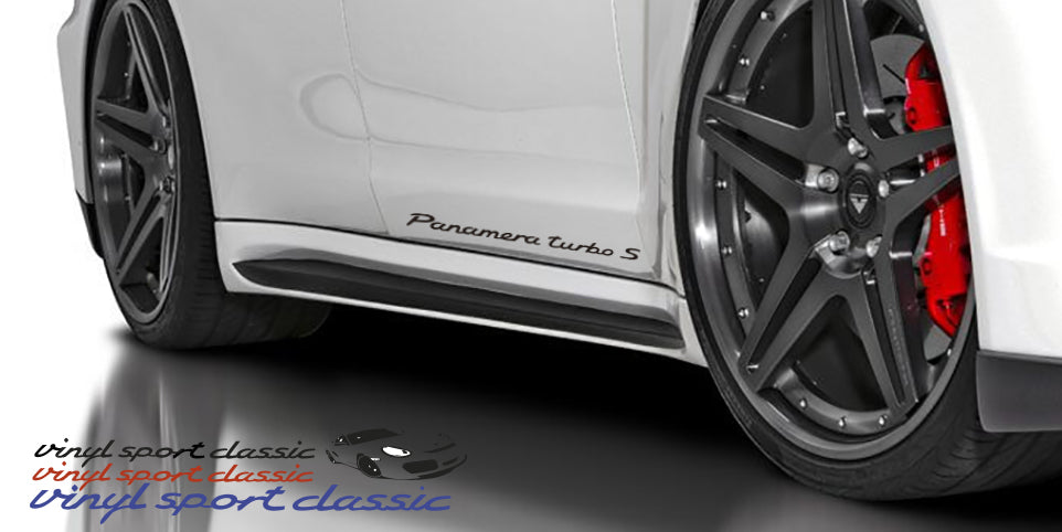 PORSCHE PANAMERA TURBO S DOOR DECAL SET