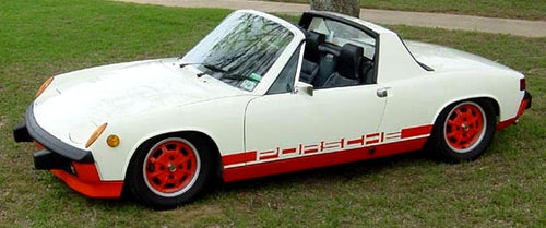PORSCHE 914 LE NEGATIVE STRIPES DECAL SET