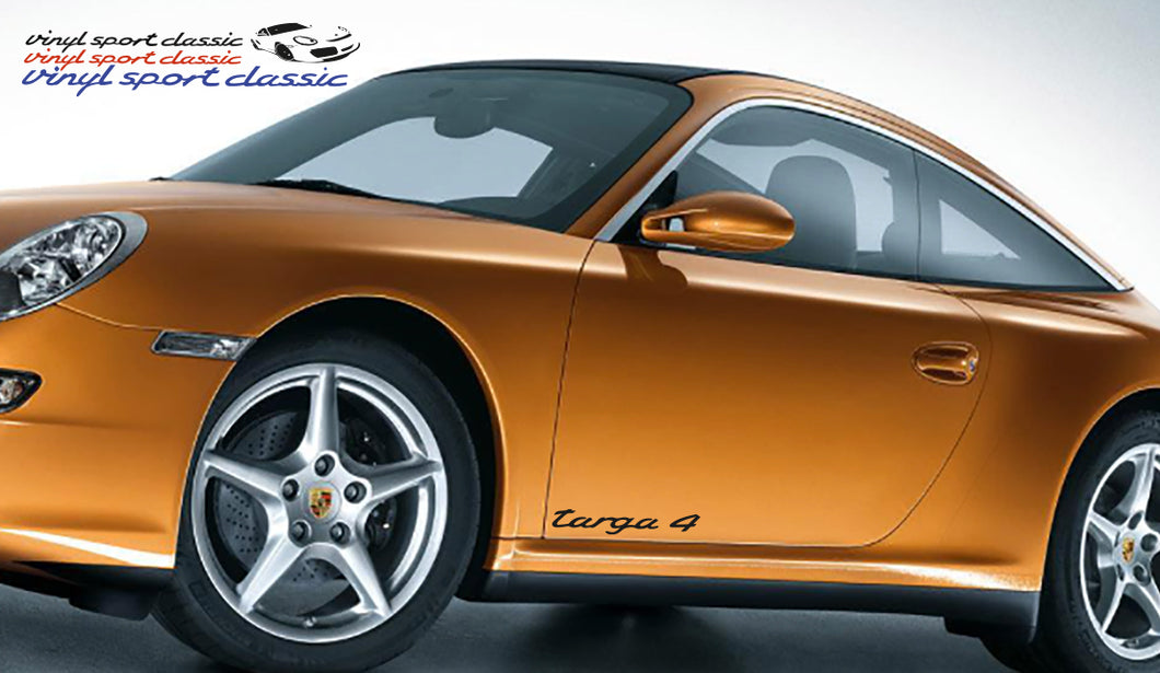 PORSCHE 911 TARGA 4 DOOR DECAL SET