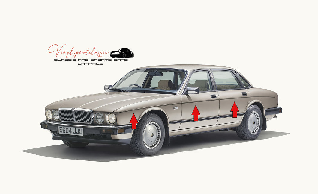 JAGUAR XJ40 PINSTRIPES SET