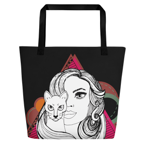 Cat Lady Life Beach Tote Bag