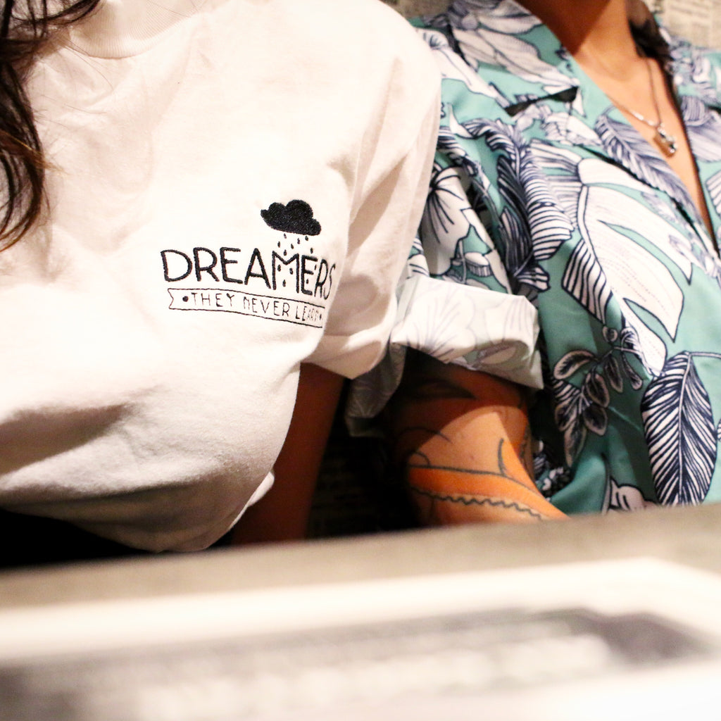Dreamers, They Never Learn Embroidered T-Shirt