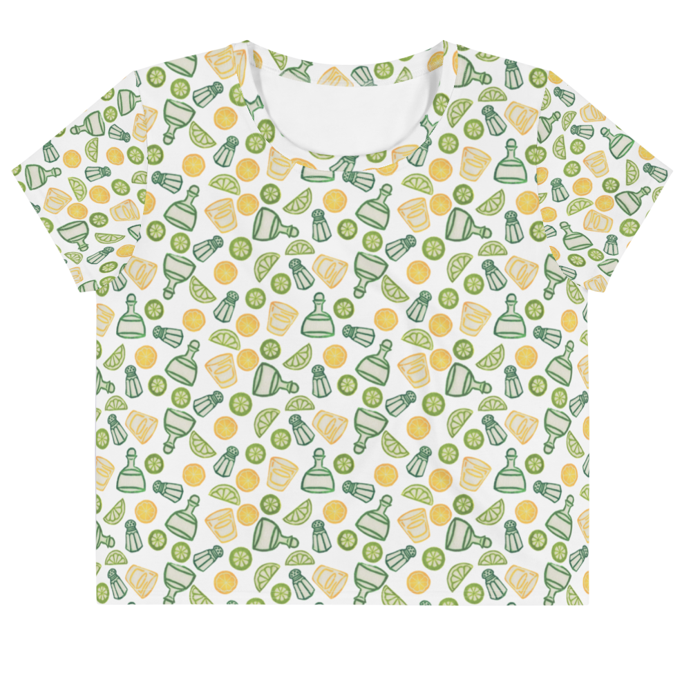 Tequila shots, please! Crop Tee