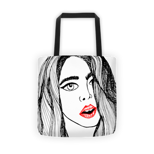 The Girl's Lips Tote Bag