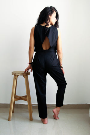 Black Night Cutout Jumpsuit