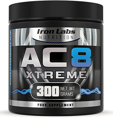 AC8 Xtreme - Blue Raspberry | Hardcore Pre-Workout Supplement | 20-40 Servings | 100% Money Back Guarantee | 300 grams