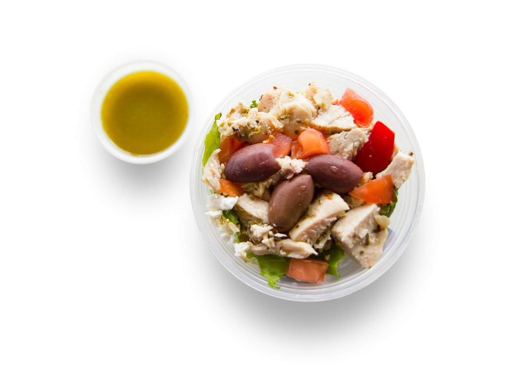 Greek Chicken Salad Shaker - Pure Plates healthy salads collection